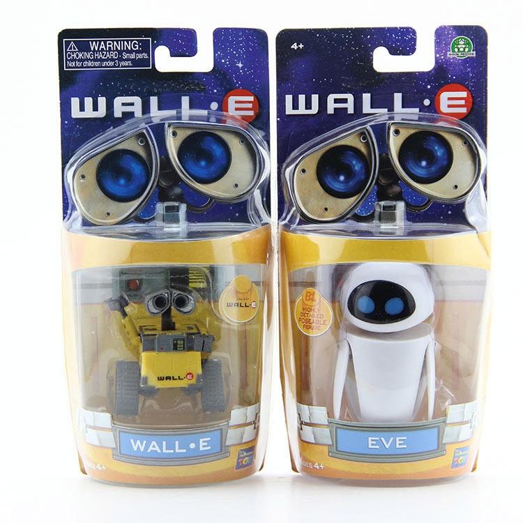 Роботы Wall-E и EVE из ПВХ, экшн-фигурки, коллекционные модели, игрушки, куклы, 6 см/10 см, 2 шт./лот