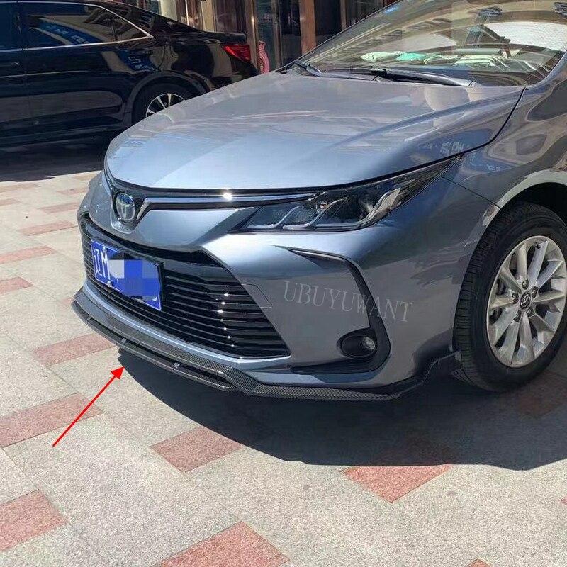 4 шт. матовый черный Автомобильный передний бампер сплиттер для губ Диффузор спойлер Накладка для Toyota Corolla 2019 2020