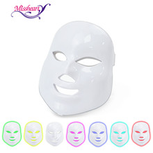 MissHeart Beauty Photon LED Facial Mask Therapy 7 colors Light Skin Care Rejuvenation Wrinkle Acne Removal Face Beauty