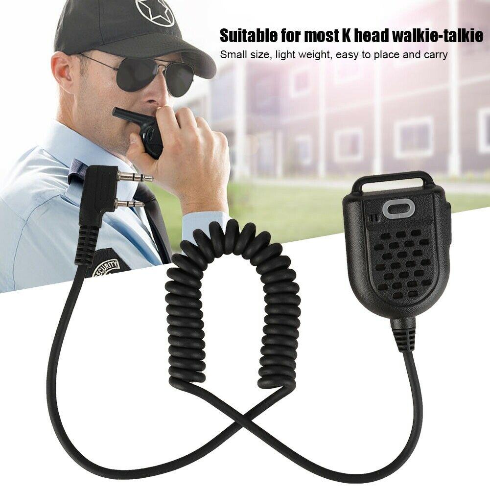 K Plug Walkie Talkie Portable Handheld Microphone Speaker Mic For Two Way Radio Baofeng UV-5R BF-888S TYT Wouxun