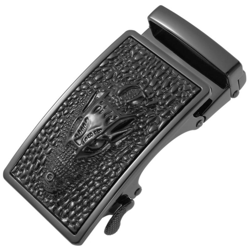 Fashion Men's Business Alloy Automatic Buckle Unique Men Plaque Belt Buckles For 3.5cm Ratchet Men Apparel Accessories LY136-22