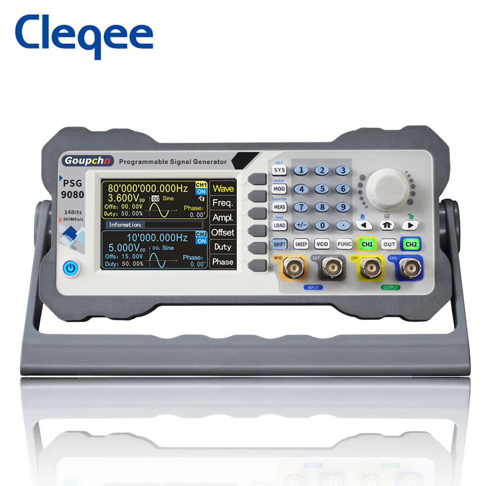 PSG9080 80MHz 60MHz Programmable Signal Generator DDS Function Dual Channel Aribitrary Waveform Digital Control PSG9060