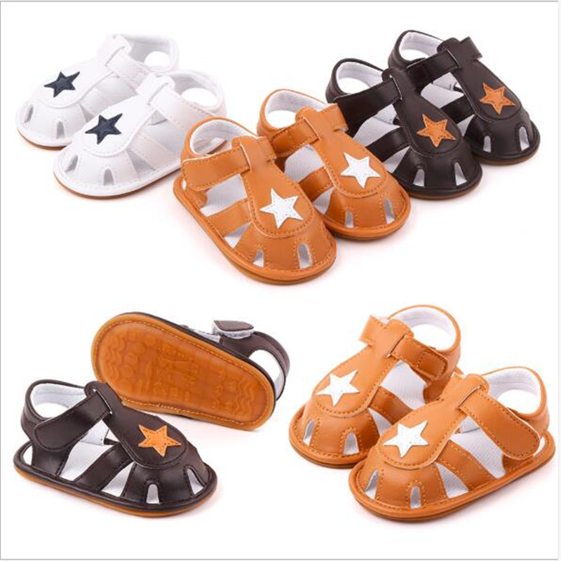 New Baby Boys PU Shoes Infants Rubber Sole Casual First Walker Anti Slip Shoes Soft Sole Baby Summer Shoes