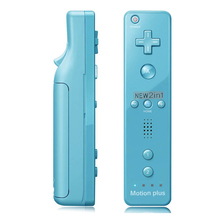 For Nintendo wii remote Built in Motion Plus Inside Remote Controller For Nintendo Wii console +Wrist Strap+Silicone Case Blue