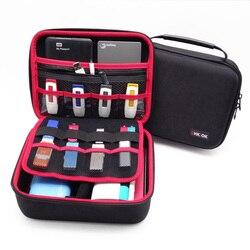 GHKJOK 3.5 بوصة كبيرة منظم الكابلات حقيبة حقيبة يمكن وضع 2 قطعة HDD محرك فلاش usb قوة البنك