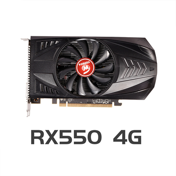 VEINEDA Original RX 550 4GB Video Cards GPU AMD Radeon RX550 4GB GDDR5 Graphics Cards PC Desktop Computer Game Map PCI-E X16 1
