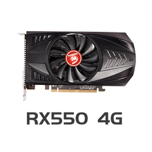 VEINEDA Original RX 550 4GB Video Karten GPU AMD Radeon RX550 4GB GDDR5 Grafikkarten PC Desktop Computer spiel Karte PCI-E X16