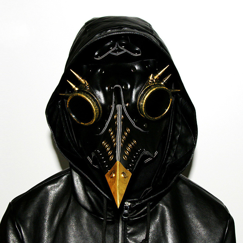 Halloween Bar COSPLAY Anime Game Steampunk Medieval Plague Doctor Beak Mask COS Peripheral Male / Female Mask Props