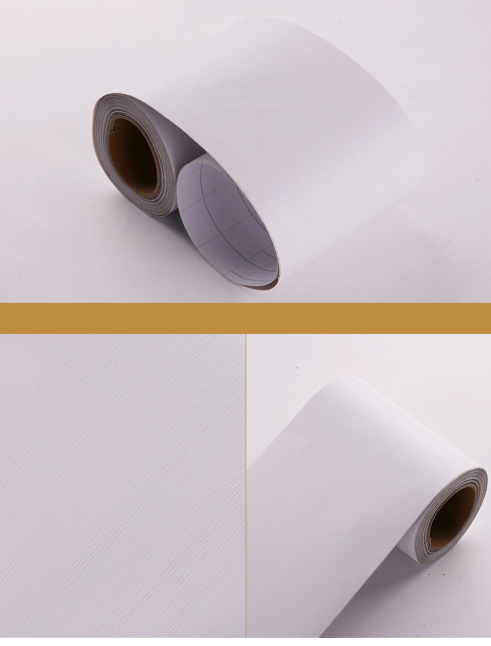 Wood Self Adhesive Window Decal Living Room Floor Border Skirting Contact Paper Waterproof Waist Line Wallpaper Home Improvement H83abd92e5d934a318af236e2d7e6125di