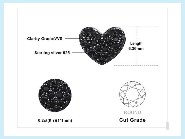 H83abdc281a4c458296af0776fb5b9aa1P JPalace Love Heart Genuine Black Spinel Stud Earrings 925 Sterling Silver Earrings For Women Korean Earings Fashion Jewelry 2019