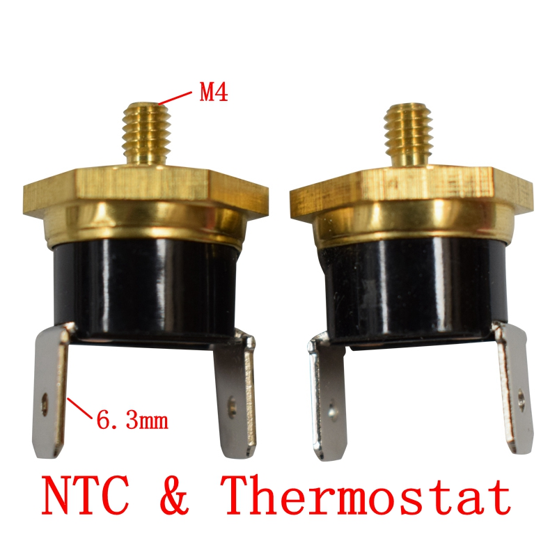 Temperature Switch Screw cap KSD301 M4 40/45/<font><b>50</b></font>/55/60/65/70/75/80/85/90/100/<font><b>110C</b></font>/120/130/140/150C degrees Normal closed 10A 250V image