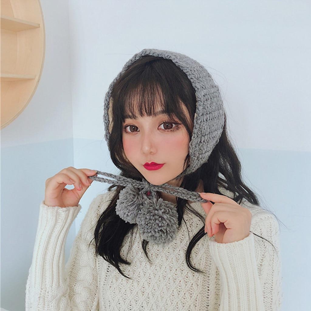 Cute Earmuffs Winter Accessories Fashion Design Ear Warmer 2 In 1 Scarf Earflap Plush Ear Muffs Women Orejeras De Invierno