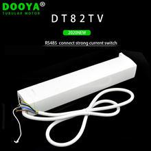 Motor motorizado silencioso da cortina do contato seco do motor dt82tv 110-240v rs485 da c.c. de dooya para a cortina motorizada da casa esperta,
