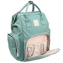 Duża pojemność torba na pieluchy plecak wodoodporna torba macierzyńska torby na pieluchy dla niemowląt z interfejsem USB mumia torba podróżna na wózek tanie tanio CN (pochodzenie) NYLON zipper (30 cm Max Długość 50 cm) 15cm Mummy Bag 26cm 41cm Stałe