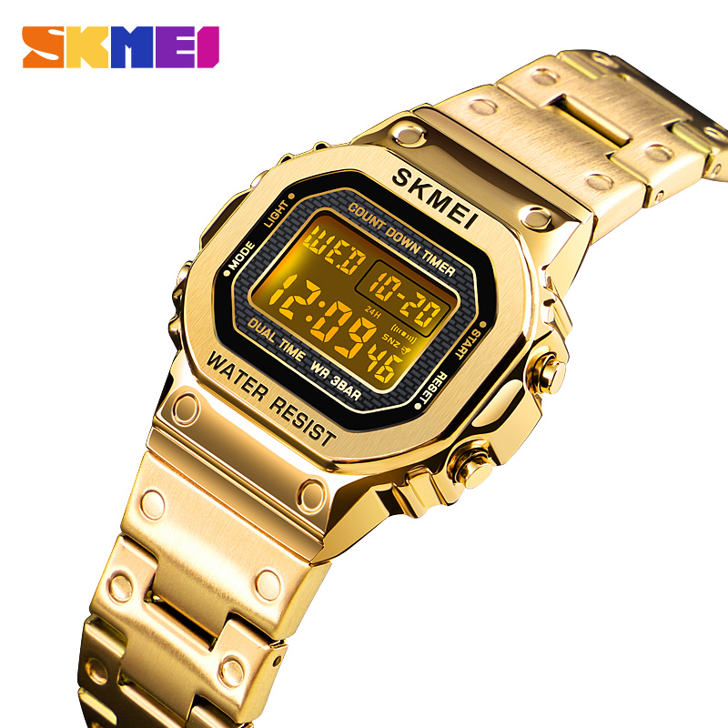 <font><b>SKMEI</b></font> Women Digital Watches Fashion Sport Wristwatch Stopwatch Chronograph Waterproof Bracelet Ladies Dress Watch Alarm Clock image
