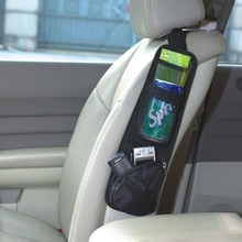 Universal Car Seat Back Side Bag Multifunctional Hanging Storage Oxford Cloth Stowing Tidying for Phone Cup Paper Towel etc.