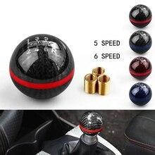 Universal Carbon Fiber Mugen 5 6 Speed Racing Car Manual Automatic Spherical Gear Shift Knob
