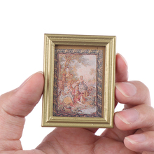 1:12 Dollhouse Miniature Photos Oil Painting Mural Wall Picture Doll House Decor