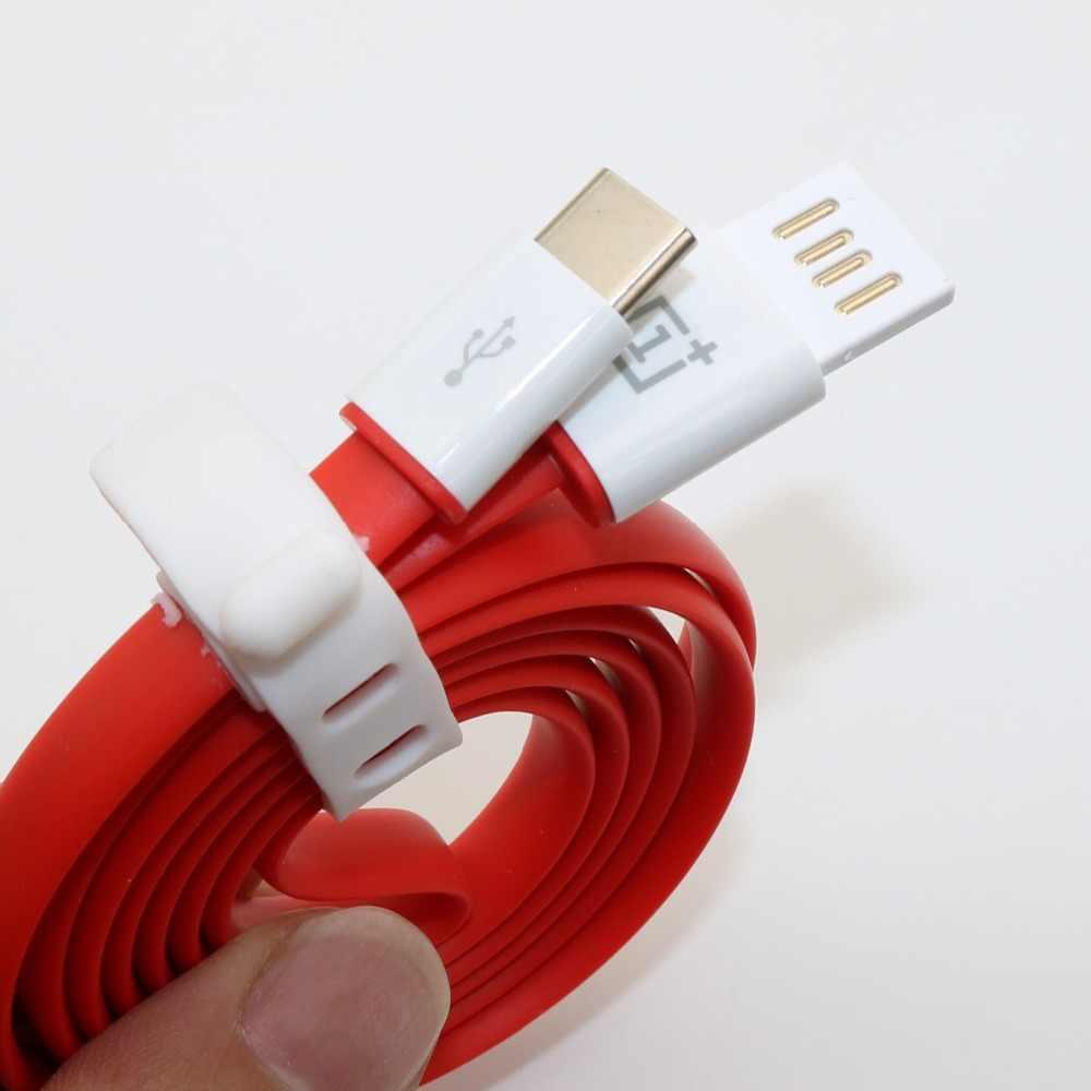 Original Oneplus 2 chargeur câble 100 cm/150 cm nouilles rouges USB type C Date ligne Charge un Plus deux Smartphone