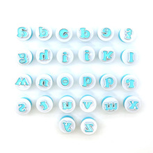 26pcs uppercase lowercase English alphabet spring cookie mold fondant decorative printing pressure cutting die baking