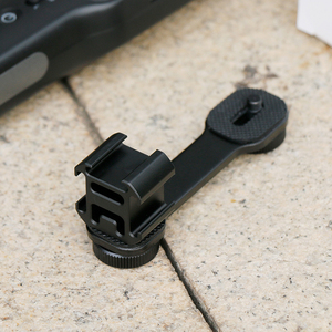 For DJI Osmo Mobile 2 Accessories Triple Hot Shoe Mount Gimbal Adapter Extension Bracket for Moza MINI-MI/S Freevision vilta M(China)