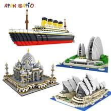 Welt Berühmte Stadt Architektur Mini Bausteine Modell Pädagogisches Spielzeug für Kinder Geschenke Kompatibel mit Marken Mini Ziegel