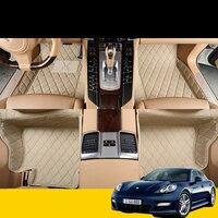 lsrtw2017 leather car floor mats for porsche panamera 2010 2020 2019 2018 2017 2016 2015 2014 2013 2012 accessories 971 970 rug