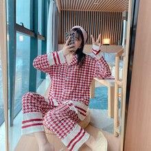 Женский осенне зимний пижамный комплект золотистая бархатная