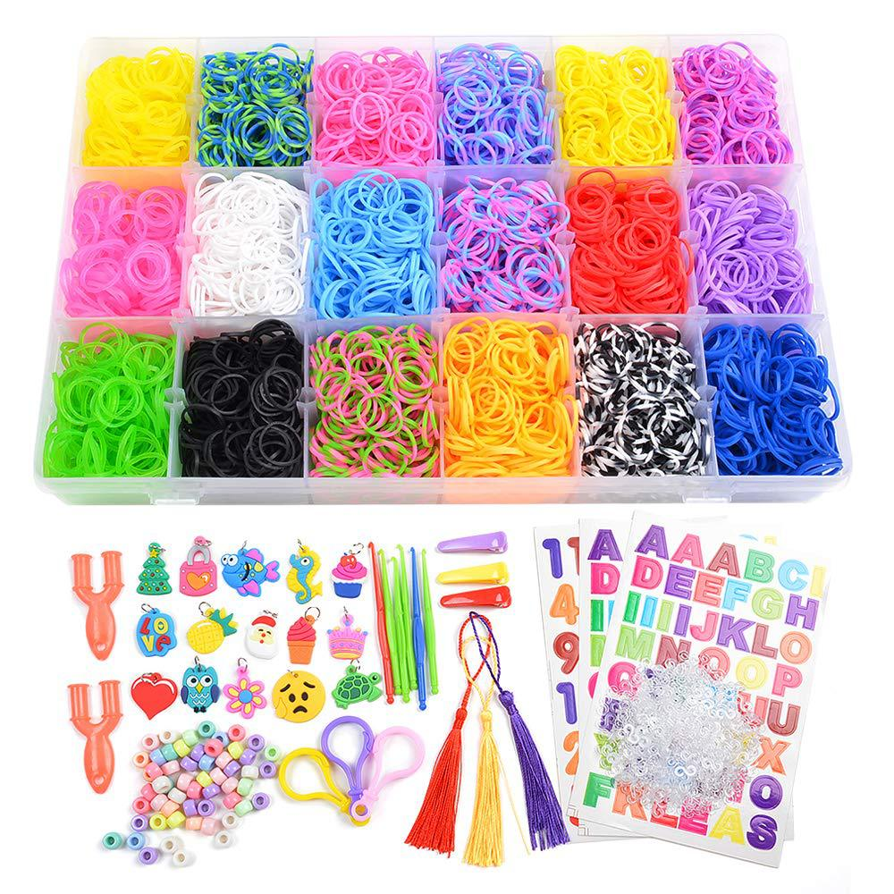 Rianbow Diy Toys 18 Colors Rubber Bands Bracelet For Kids Hair Rubber Loom Bands Refill Rubber Band Make Woven Bracelet DIY Gift