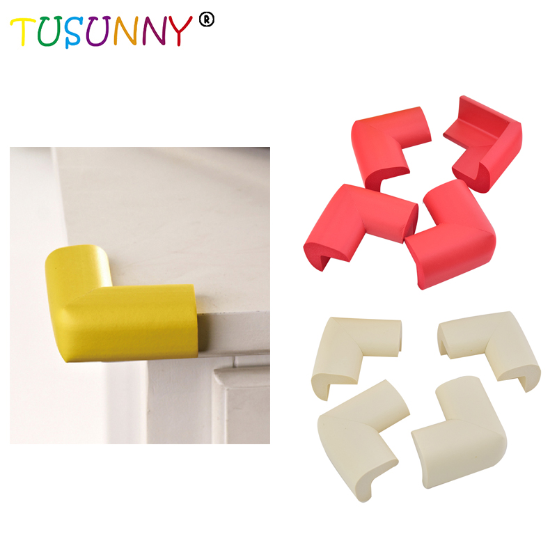 TUSUNNY 4 unids / lote Soft Safe Corner Protector Baby Kids Table Desk Corner Corner Safety Edge Guardias al por mayor