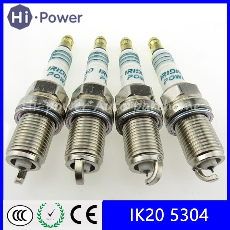 4PCS/Lot IK20 5304 Car Iridium Spark Plugs IK20-5304 Japan For Toyota Audi For VW Volkswagen Mitsubishi IK20/5304 IK205304