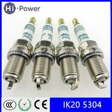 цена на 4PCS/Lot IK20 5304 Car Iridium Spark Plugs IK20-5304 Japan for Toyota Audi for VW Volkswagen Mitsubishi IK20/5304 IK205304