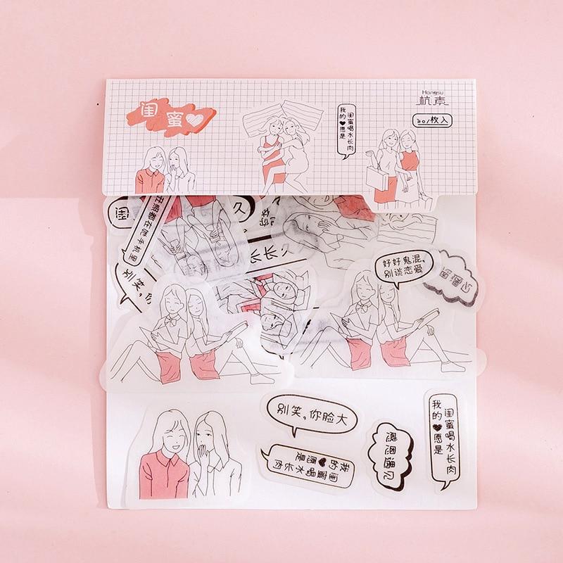 80 шт./пакет японская Канцелярия Стикеры s милый кот липкий Бумага Kawaii ПВХ дневник наклейка с медведем для украшения дневник в стиле Скрапбукинг - Цвет: Темно-красный