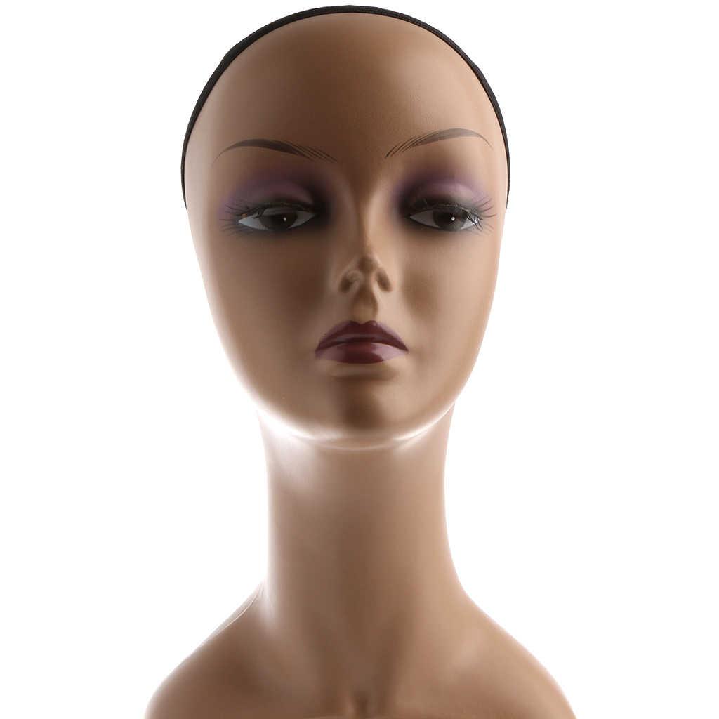 Femminile Mannequin Testa Busto Parrucca Hat Jewelry Display Modello Del Basamento Con Cap Netto