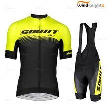 Homem conjunto de camisa bicicleta scottful 2020 verão manga curta ciclismo roupas respirável bib shorts terno estrada triathlon mtb uniforme