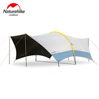 Naturehike Cloud Dome sun shelter with pole super large space canopy Camping Sunshade awning canopy Anti-UV family Car Tent