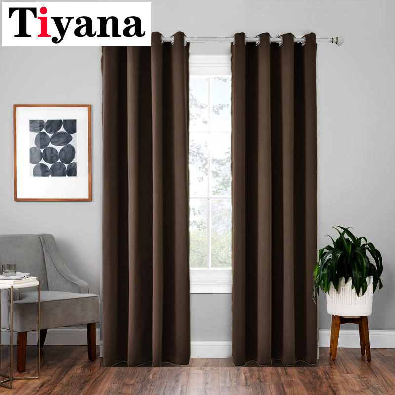 Modern Blackout Curtains For Living Room Window Treatment Black Blinds Bedroom Sliding Door Customize Curtain Drapes P092 5 Curtains Aliexpress