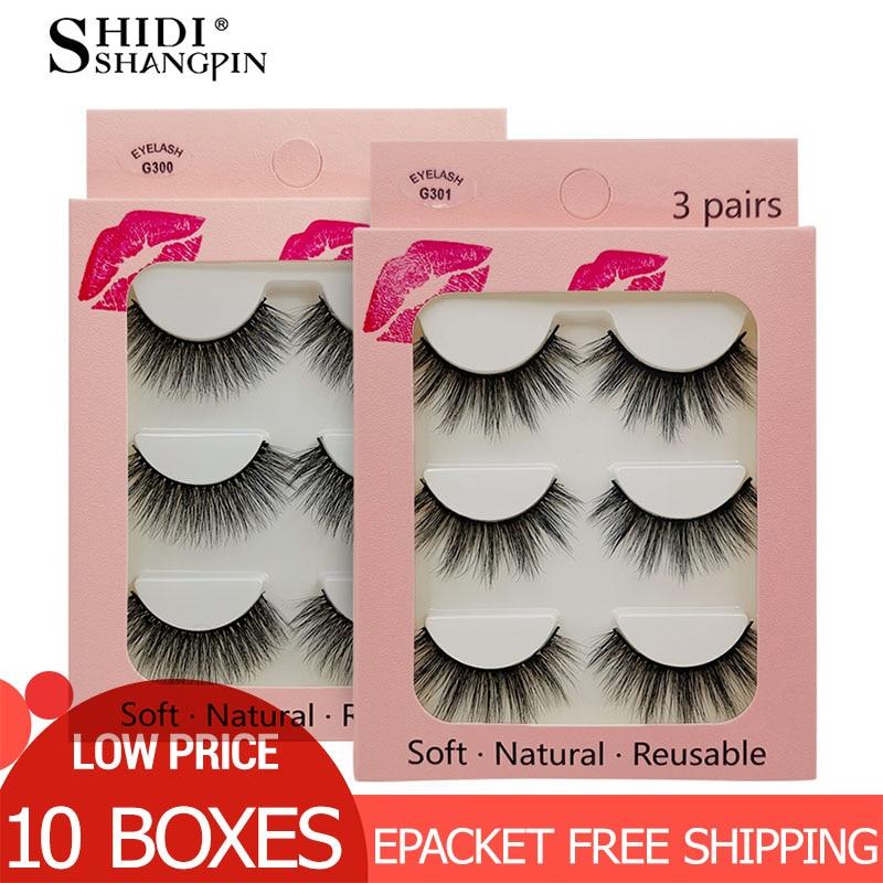 10 Boxes Mink Eyelashes Wholesale 3d Mink Lashes Natural False Lashes Makeup False Eyelashes Extensions Full Maquiagem Cilios