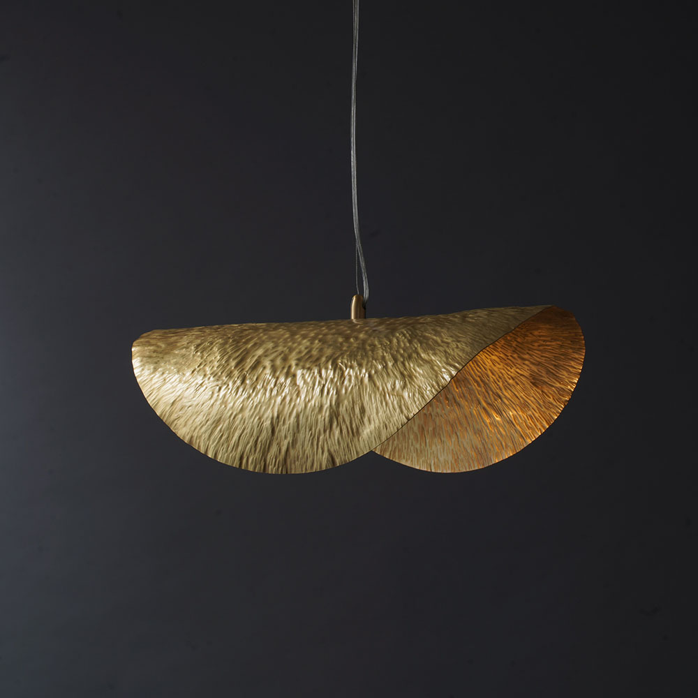 ECOLIGHT America Copper <font><b>Pendant</b></font> <font><b>Light</b></font> for Dining Room Bar Shop Creative Hanging Lamp Decoration Lighting 18.2 Inches image
