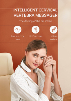 Tech Love neck Cervical massagerdepuy spine вибромассажер для тела pistola masajeador muscul tour de cou mata do akupresury