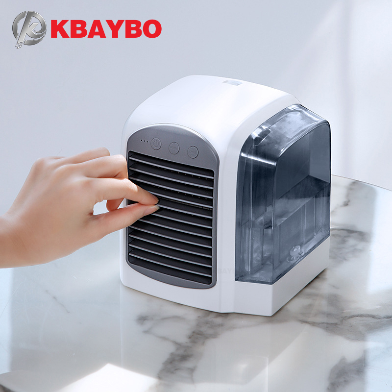 2019 New Mini Portable Air Conditioner Water Cooled Fan USB Office Desktop Handheld Fan Water Fan Portable Air Conditioning Fan