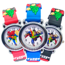 Luxury Baby Educational Time Toy Cartoon Superman Children's Watches Boys