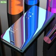 Para VIVO Z5X Caso Espelho Luxo Virar Capa de Couro Inteligente Capa Para VIVO Z1 Pro Funda para VIVO Z5X Z1 pro Posto À Prova de Choque Fundas