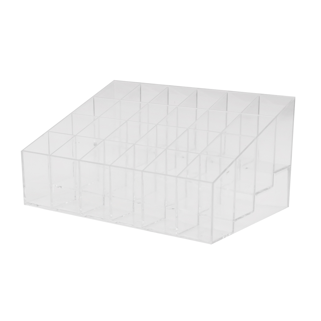 Professional Clear Acrylic 24 Lipstick Jewelry Display Stand Makeup Box Shop Retail Holder Orgainzer