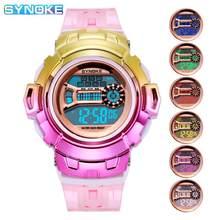 SYNOKE Frauen Digitale Uhren Bunte Mode G Wasserdichte LED-Shock frauen uhr Feminino Relogio Damen Elektronische Uhren