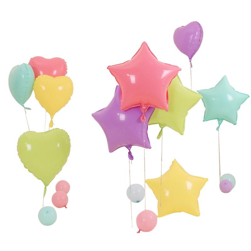 Воздушный шар из алюминиевой пленки в форме сердца/воздушный шар из алюминиевой пленки с пентаграммой/украшение гелиевые глобусы/вечерние принадлежности|Воздушные шары и аксессуары|   | АлиЭкспресс - Товары для детей: бестселлеры