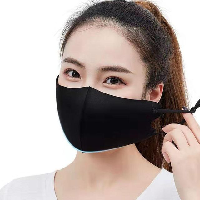 3 PCS Ice Silk Masks Washable Anti Dust Allergies Mask Travel Reusable Adjustable earloop straps support long-time usage Cotton 4