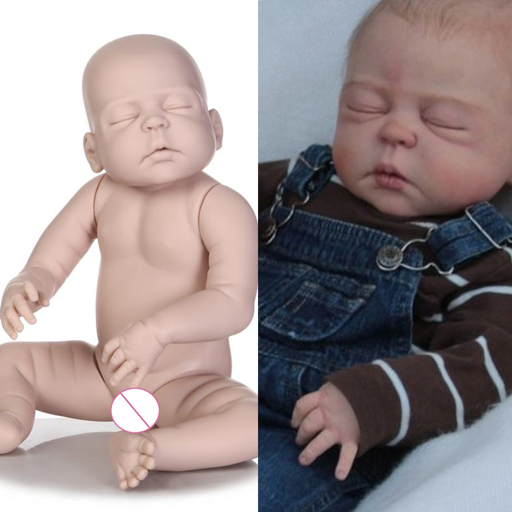 "22/"" Full Body Vinyl Reborn Baby Doll Kits Unpainted DIY Mold Girl Boy"