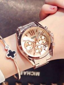 Women Casual Watch Clock Business-Dress Rose-Gold Female Unique Lady Luxury Quartz Waterproof