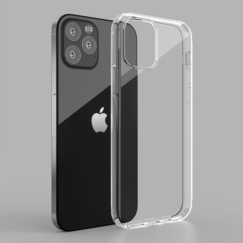 Силиконовая Мягкая задняя крышка для iPhone 12 Mini 11 Pro XS Max SE XR 8 7 6 Plus чехол ультра тонкий прозрачный чехол для телефона для iPhone 12 11 Pro|Специальные чехлы|   | АлиЭкспресс